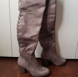 05b220feeaf dressy black stretch over the knee High boots. M 59f656aa2599fe97c507821c.  Other Shoes you may like. Thigh high boots